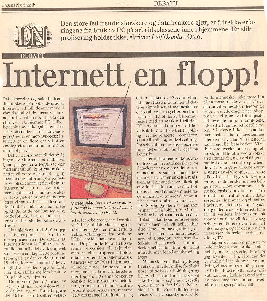 Internett bekjente en flopp